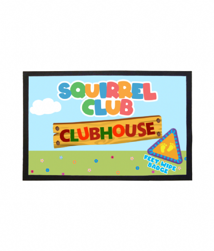 Squirrel Club Clubhouse Doormat Hey Duggee Inspired Welcome Mat